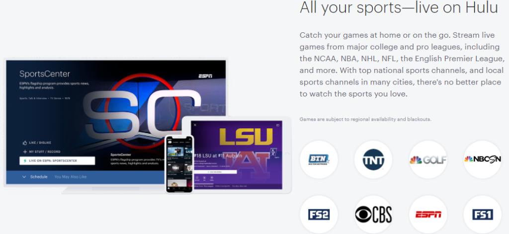 Hulu live tv fox sports