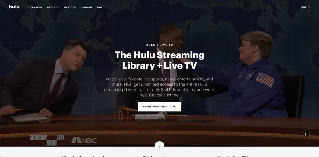 Hulu with live TV guide