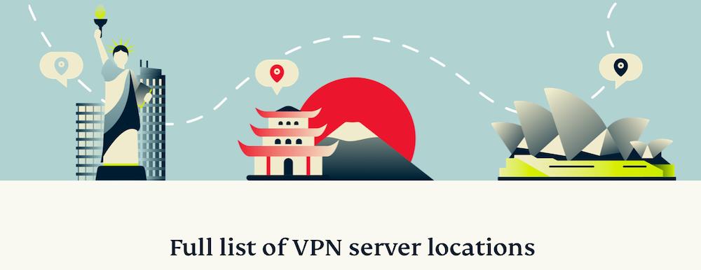Thousands of ExpressVPN locations