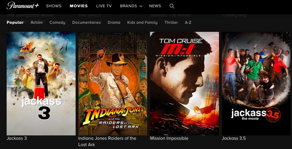Movies on Paramount+