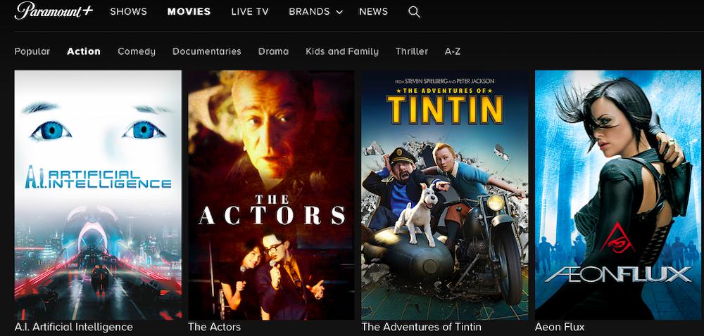 Watch movies on Paramount+