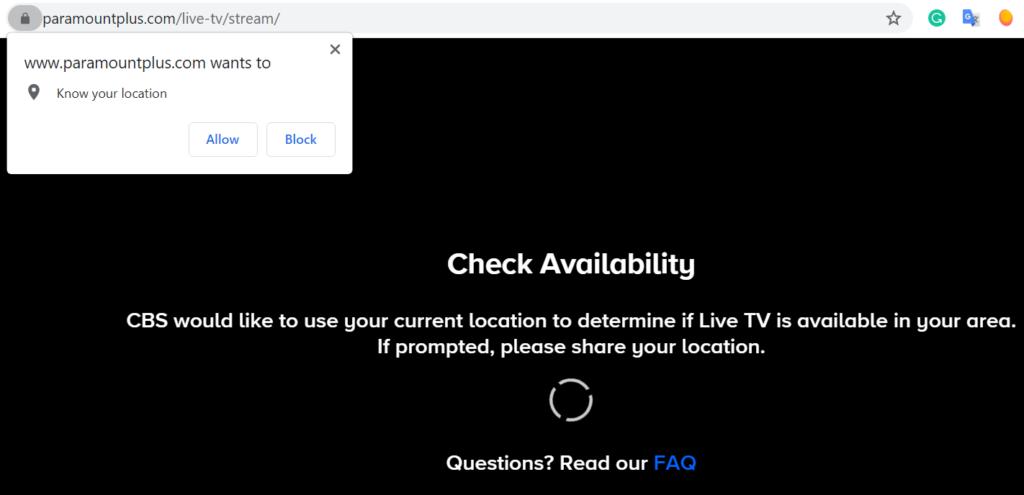 paramount plus live tv location check