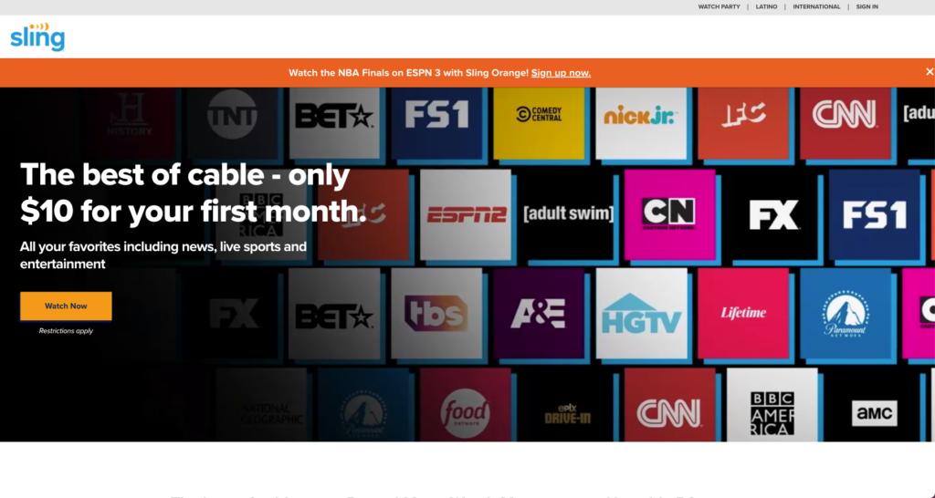 watch live tv verizon fios alternative Sling TV