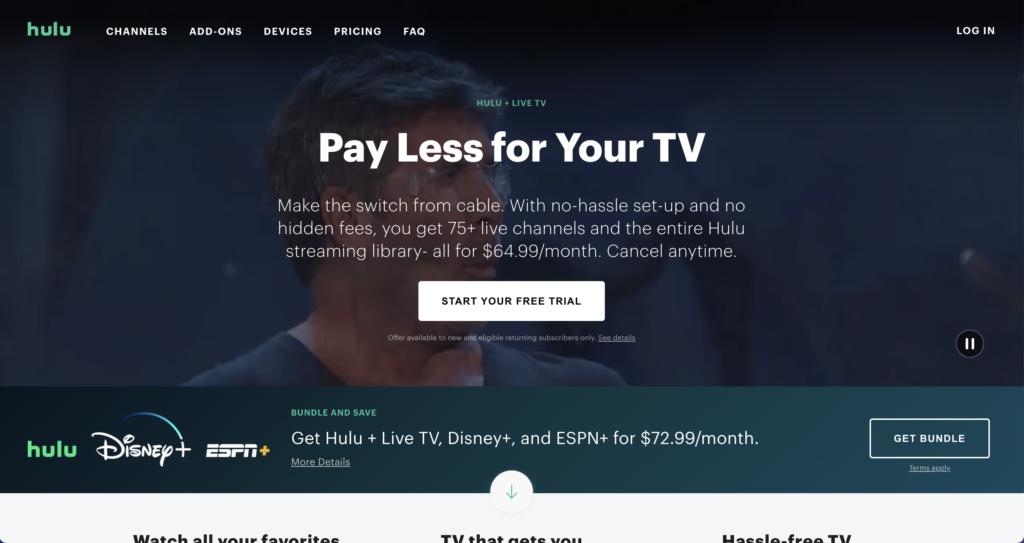 watch mountain west conference without cable hulu with live tv